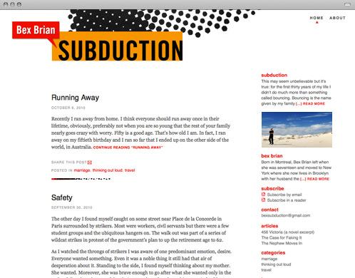 Bex Brian: Subduction